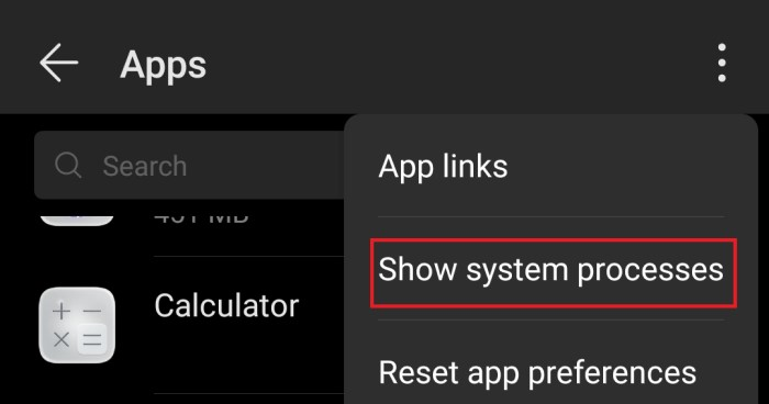 show-system-processes-android
