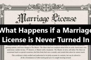 What Happens if a Marriage License is Never Turned In