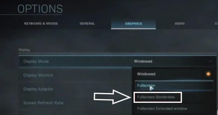 Dev Error 6328 Modern Warfare - Force Borderless Mode