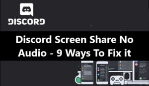 Discord Screen Share No Audio - Fix