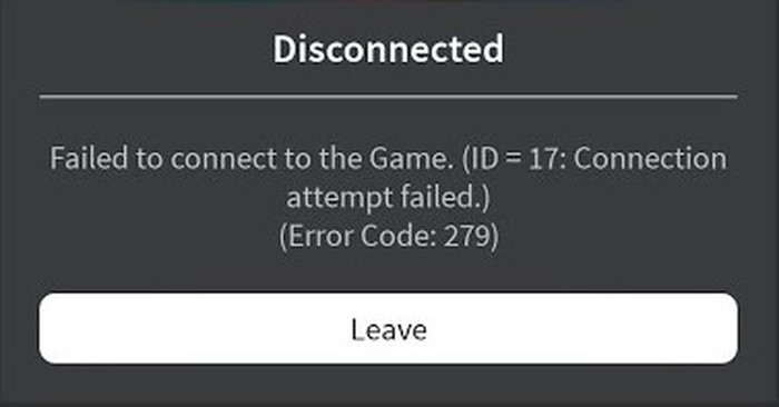 Roblox Error Code 279 - Fix