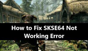 SKSE64 Not Working Error
