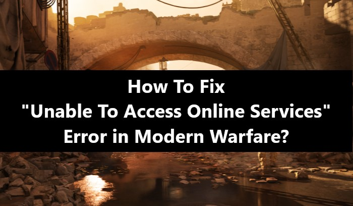 How To Fix Unable To Access Online Services Error In Modern Warfare If you persistently find that your connection has failed, it's worth making sure the game isn't blocked by a firewall or your internet service provider. fix unable to access online services
