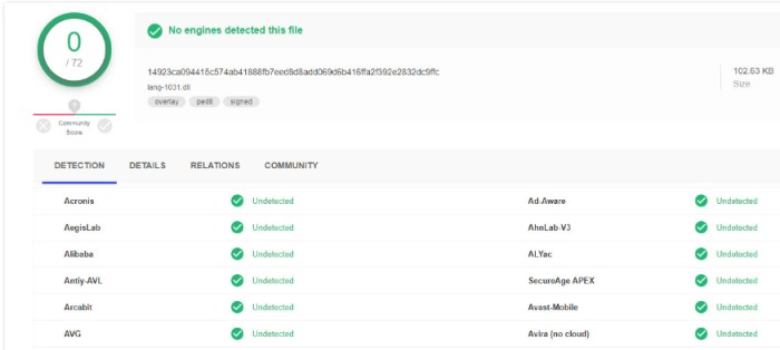 filerepmalware - VirusTotal