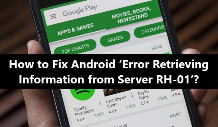 Error retrieving information from server RH-01 - Fix