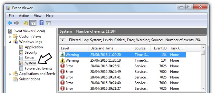 System Thread Exception Not Handled Error - windows event viewer fix