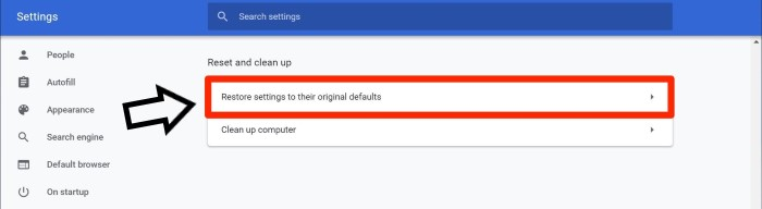 This Site Can't be Reached Fix - Restore Chrome Settings