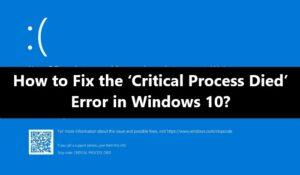 critical-process-died-error-fix