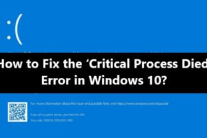 critical-process-died-error-fix