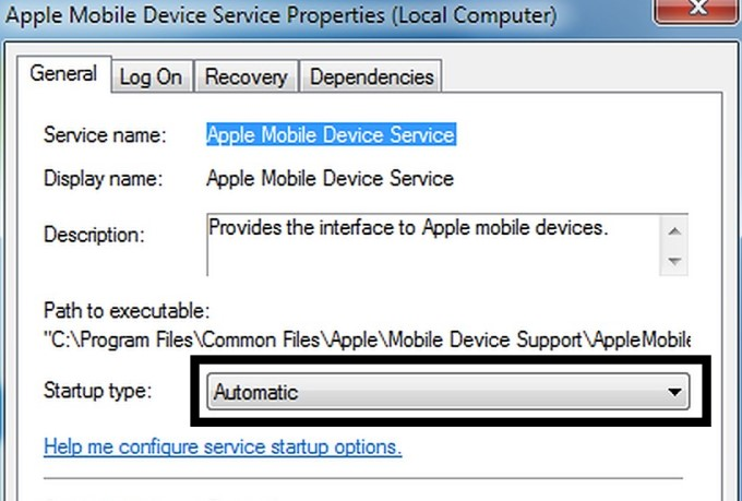 iTunes Error 0xE80000A Fix - Restart Apple Mobile Device Services