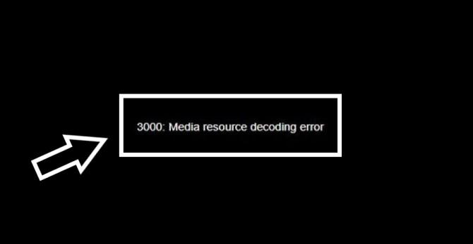 Twitch Error 3000 - Media Resource Decoding Error
