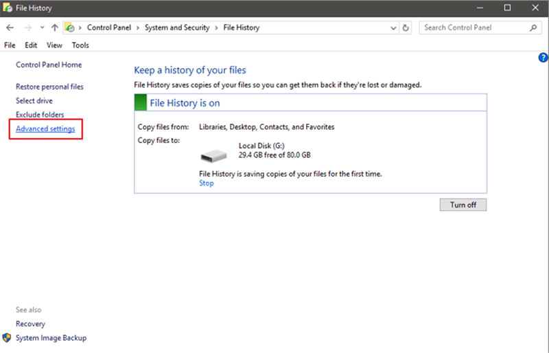 delete file history