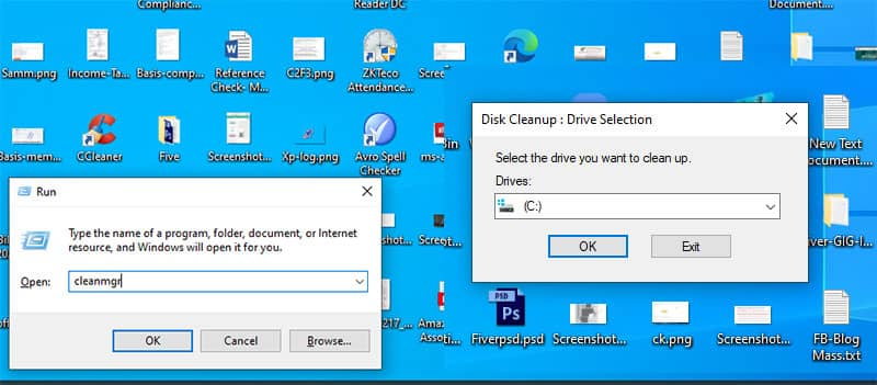 delete the windows old folder