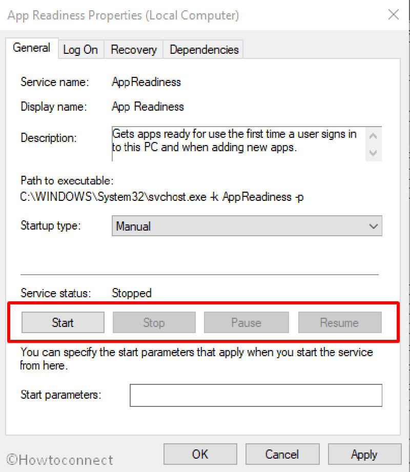 enable the app readiness service